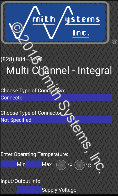 Smith Systems Inc. Sensor Design App